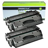 2PK CE505A 05A Hi-Yield Toner Cartridge Compatible For HP LaserJet P2035n P2050
