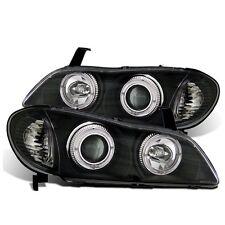 CG For 2000-2001 Infiniti I30 LED Halo Projector Black Clear Headlights Set