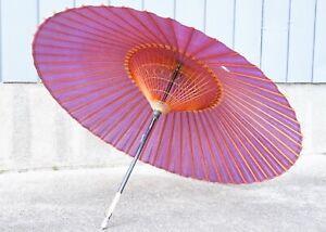 "Elegant! Vintage Japanese Traditional Umbrella  Called ""WAGASA"" circa 1960s SHT"
