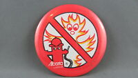 Vintage Alberta Labour Union Pin - No Fires in the Work Place - Cartoon Graphic