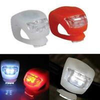 Silicone Bicycle Bike Cycle Safety LED Head Front Rear Tail Light HOT