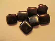 Bronze metallic iridescent glass button
