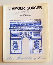 Partition vintage sheet music CLAUDE NOUGARO : L'amour Sorcier *60s