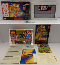 Console Game Gioco SUPER NINTENDO SNES 16 BIT Play NTSC USA EA Bob - B.O.B. -