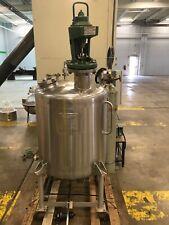 80 Gallon Stainless Steel Brighton Reactor With Lightnin Pneumatic Mixer Motor