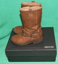 GENTLY USED KENNETH COLE REACTION LITTLE GIRL BROWN BOOTS SIZE 10.5 WORN TWICE