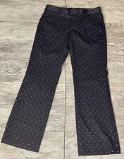 BANANA REPUBLIC Womens LOGAN Navy polka dot TROUSER DRESS PANTS Petite 4 EUC
