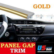 384inch Panel Gap Trim Molding Garnish Strip Golden For Car Accessory Edge Line