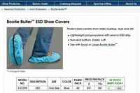 Qty. 26 ESD Shoe Cover Polypropylene CONDUCTIVE CARBON STRIP boot disposable