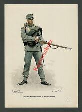 or. Farblitho Myrbach K.u.K. Feldjäger Btl. 21 Niederösterreich Wappen Adel 1888