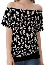 Schleifen Kurzarm Damenblusen, - tops & -shirts aus Baumwolle
