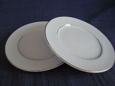 Gibson Black Tie BREAD PLATES or SAUCERS -SET of TWO have more items GOLD BAND