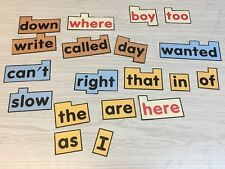 Rainbow Word Wall High Frequency And Sight Words - 20 Sheet Unlaminated & Uncut