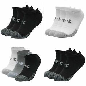 Under Armour Socks Mens Womens No Show 3 Pairs Socks HeatGear Sports Socks