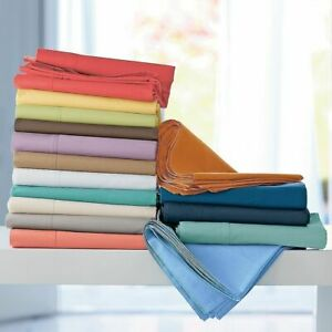 1000 TC Ultra Soft 100% Cotton King Size Sheet Set All Solid Colors