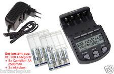 BC700 Schnell-cargador + 8 xCamelion siempre listo AA 2500mAh + 2 xAkkuboxen