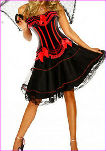 Burlesque Costume Corset Dress Halloween Moulin Rouge Fancy Dress Costume Outfit