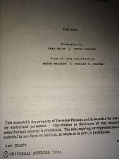 King Kong remake 1996 first draft Peter Jackson
