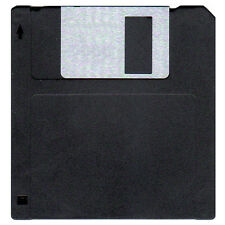 "New 720K FLOPPY DISKS. DS/DD 3.5"" floppy diskettes. 50 Pack MF2-DD DSDD.   Black"