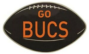 "Tampa Bay Buccaneers   Vintage Looking  1950's  ""Go Bucs""  NFL Football  Sticker"