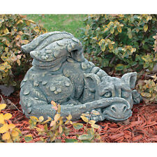 "20"" Bashful Bruno Snoozing Baby Dragon Home Garden Cute Sculpture Statue"