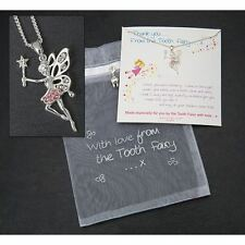 Set Silver Sentiment Jewellery Equilibrium Tooth Fairy Necklace Gift