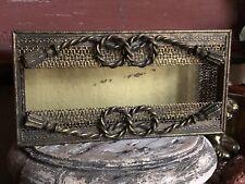 Vintage *Gold Gilt Hollywood Ornate TISSUE KLEENEX HOLDER Cover Antique Filigree