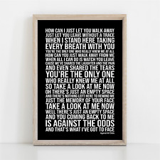 More details for phil collins against all odds lyrics poster print wall art take a look at me now