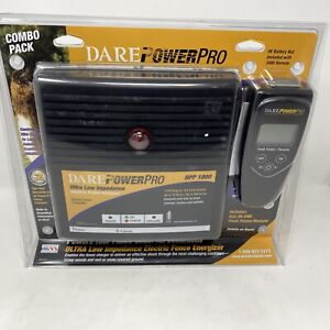 Dare Power Pro DPP 1800 Electric Fence Charger + 3480 Fault Finder Remote Combo