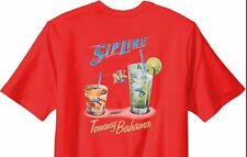 NEW TOMMY BAHAMA Orange Zip Line Drinks Graphic Tee Shirt MENS T-SHIRT 3XL XXXL