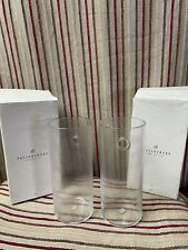 Pottery Barn Clear Glass Wall Mount Sconce Set Of 2