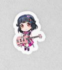"Bang Dream, Bandori. Laminated 3"" Sticker. Poppin Party Rimi Chibi"