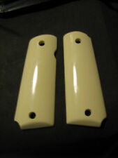 1911 Synthetic Ivory Pistol Grips Full-Size f/Colt Etc Government/Commander ONLY