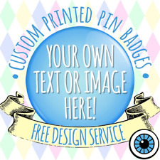 Custom Badges ANY Design / Image or Text  - Personalised Badge Handmade Mirror