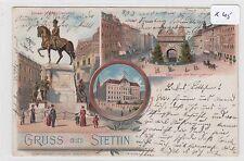 2646, schönes altes MB Litho Gruss aus Stettin gelaufen 1900 !