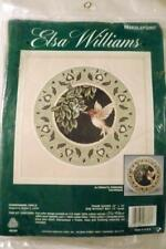 NEEDLEPOINT KIT  Elsa Williams HUMMINGBIRD CIRCLE Pillow Picture