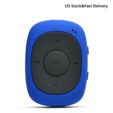 AGPTEK 8GB Clip MP3 Player FM Radio Portable Sports Music Player G02 Blue