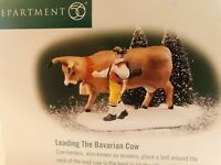 Dept. 56 Leading The Bavarian Cow  Alpine Village Series New in Box #56214