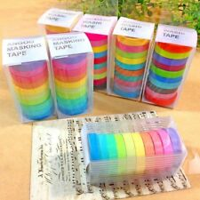 DIY Self Adhesive Candy Colors Washi Masking Tape Sticker Craft Decor Decorative