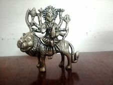 RELIGIOUS EDH Durga Kali Brass Statue Hindu Goddess Devi Figurine Sculpture