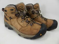 Keen Detroit Size 9.5 2E WIDE EU 42.5 Men's Waterproof Soft Toe Work Boots Brown
