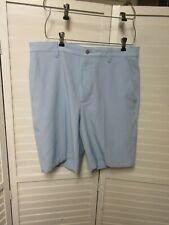 Mens Foot Joy Flat Front Golf Shorts. Blue. Size 34. 10 inch inseam