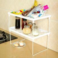 Stackable Kitchen Folding Storage Rack Shelf Bathroom Holder Organiser For Home