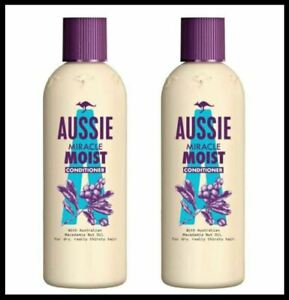 2 x Aussie MIRACLE MOIST Conditioner For Dry, Really Thirsty Hair - 250ml x 2