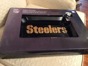 """NFL Serveware """"Steelers"""" Platter and Charm...New in Box"""