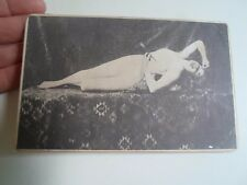 Rare Vintage Printed Photo On Card Risque Lady With Arrow In Heart  §D270