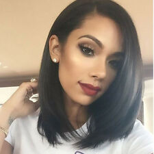 Fashion Women Ladies Bob Wig Short Straight Black Hair Black Natural Hair DJ8