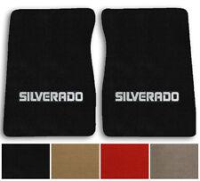 1975-1985 Chevrolet Silverado Cutpile Carpet Logo Floor Mat Front Row 2pc w Logo