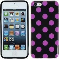 Silicone Case for Apple iPhone 5c Polkadot Design:07 + protective foils