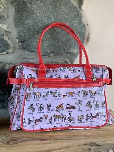 Large Pink Equestrian Theme Bag By Tyrrell Katz various horse characters!!